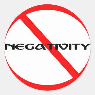 No Negativity Round Sticker