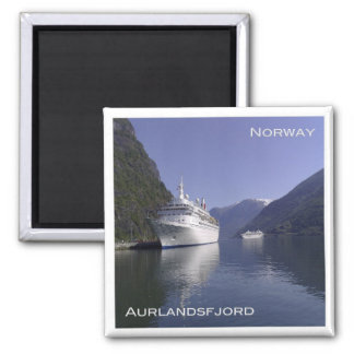 NO # Norway - Aurlandsfjord - Cruise ship at Flåm Magnet