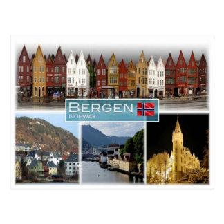 NO Norway - Bergen - Postcard