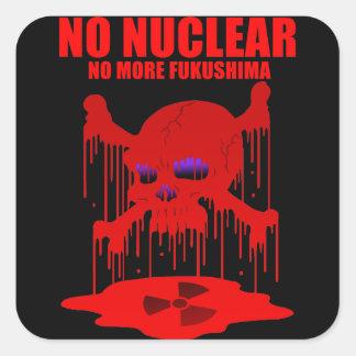 NO NUCLEAR 2 SQUARE STICKER