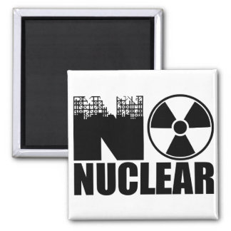 NO NUCLEAR MONO REFRIGERATOR MAGNET