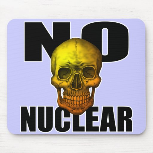 NO NUCLEAR SKULL MOUSE PADS