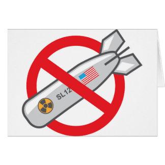 No Nuclear War Greeting Card
