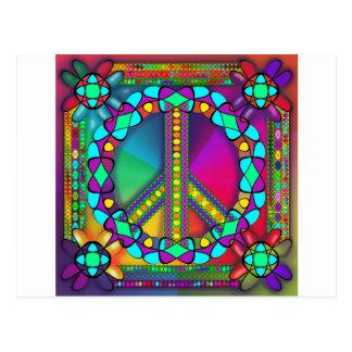 no nuke zone colored postcard