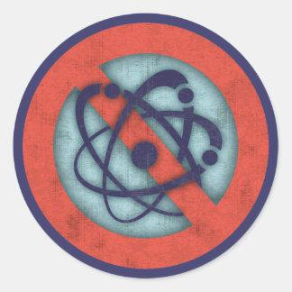 No Nukes Classic Round Sticker