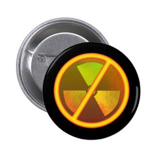 No Nukes Glowing Radiation Symbol Pins