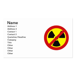 NO_NUKES PACK OF STANDARD BUSINESS CARDS