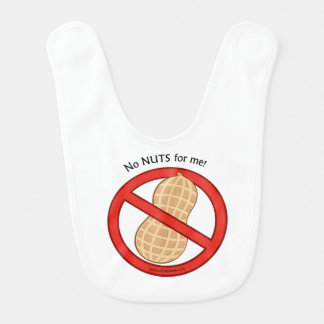 """No Nuts for me"" baby bib"