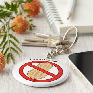 """""""No nuts for me"""" Keychain"""