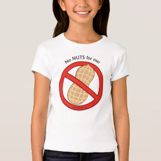 """""""No Nuts for me"""" Kids Allergy Tshirt"""