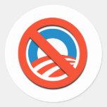 """NO """"O"""" / No Obama Round Stickers"""