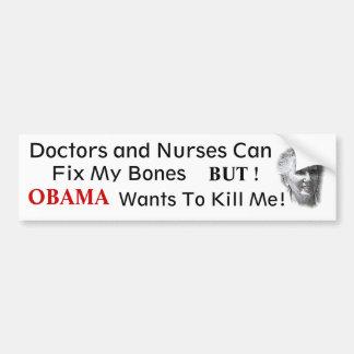 NO OBAMA  Anti health Care Bumper Sticker
