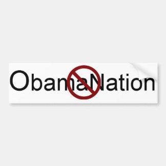 No ObamaNation Bumper Sticker