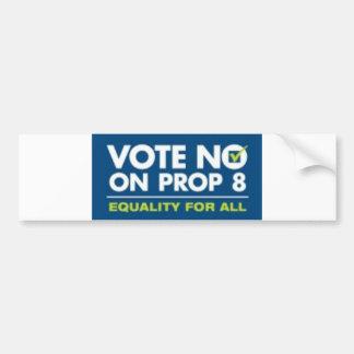 No On Prop 8- bumper sticker