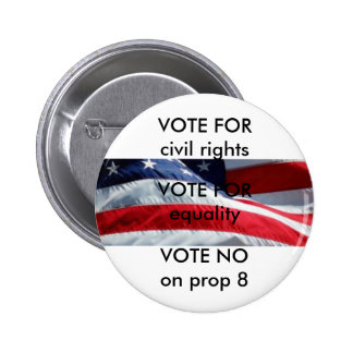No on Prop 8 button