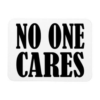 No One CARES Rectangular Photo Magnet