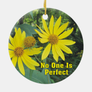 No One Is Perfect Yellow Wildflowers Ornament