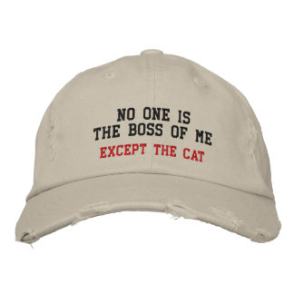 No One IsThe Boss Of Me, Except The Cat Embroidered Baseball Caps