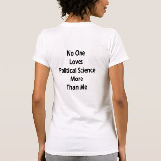 No One Loves Political Science More Than Me Tshirt