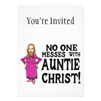 No One Messes With Auntie Christ Cards