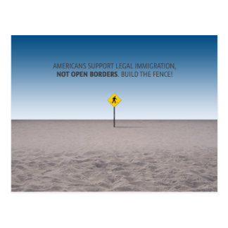 No Open Borders Postcard