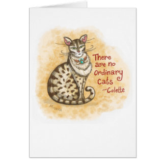 No Ordinary Cat Blank Greeting Card