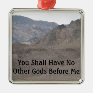 No Other Gods Before Me Christmas Ornament