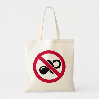 No pacifier soother tote bags