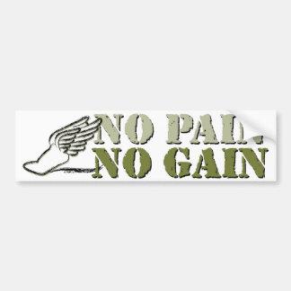 No Pain No Gain - Running Bumper Stickers