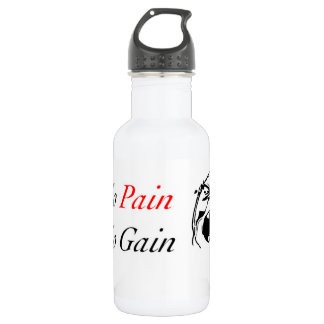 No Pain, No Gain W/ MeMe Face 532 Ml Water Bottle