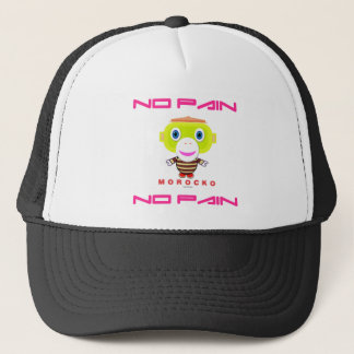 No Pain No Pain-Cute Monkey-Morocko Trucker Hat