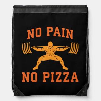 No Pain, No Pizza - Carbs - Funny Workout Novelty Drawstring Bag