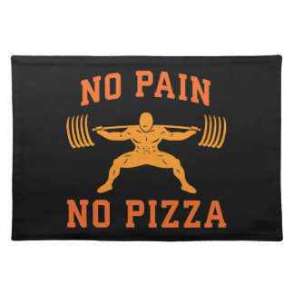 No Pain, No Pizza - Carbs - Funny Workout Novelty Placemat