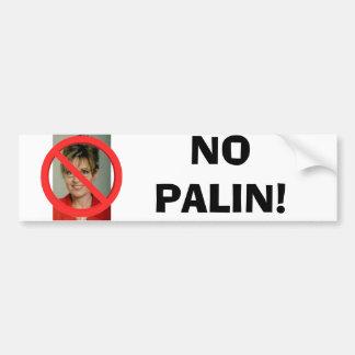 No Palin Car Bumper Sticker