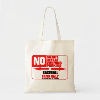 No Parking Baseball Sign Tote Bag
