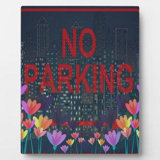 No parking photo plaque