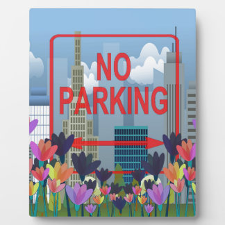 No parking plaque