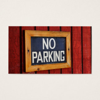 No Parking Sign Business Cards