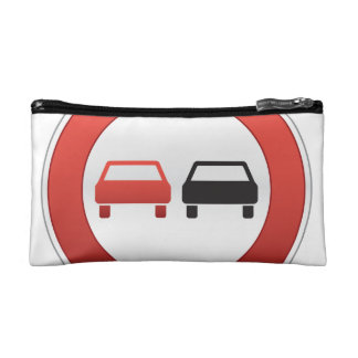 No passing road sign cosmetic bag