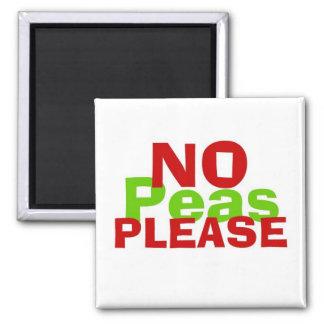 No Peas Please Square Magnet