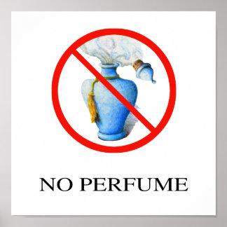 No Perfume Sign, Hand Drawn Poster