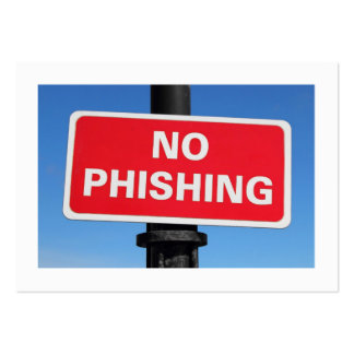 No Phishing (Bordered) Pack Of Chubby Business Cards
