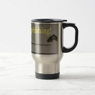 No phishing! stainless steel travel mug