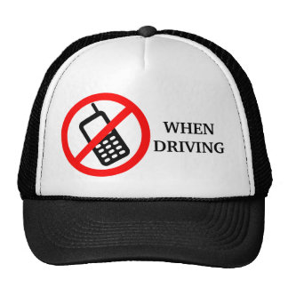 No Phone When Driving Trucker Hats
