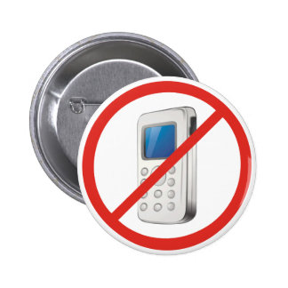 No Phone Zone 6 Cm Round Badge