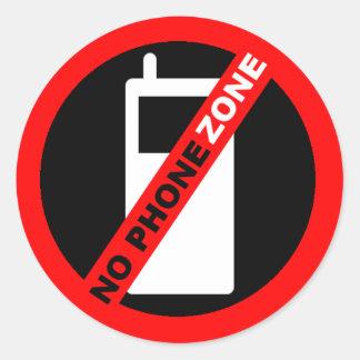 """No Phone Zone"" Classic Round Sticker"
