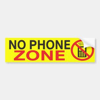 No Phone Zone Custom Remix Bumper Sticker Car Bumper Sticker