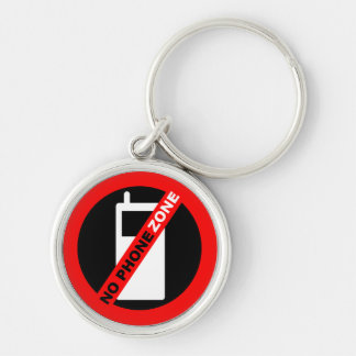 No Phone Zone Keychain