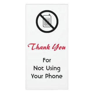 """""""No Phones"""" Acrylic Sign Door Sign"""