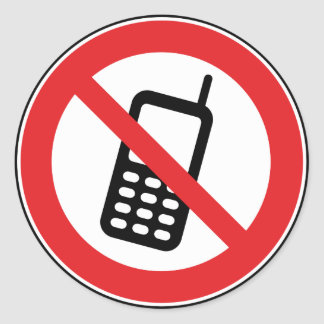 No phones cellphones allowed Stickers
